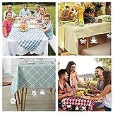 LATTCURE 8 Stück Tischdeckenbeschwerer Outdoor, Edelstahl Tischtuchbeschwere Set mit Stahlclips, Tischtuchklammern für Dicke Tischplatten, Tischtuchhalter für Drinnen Draußen, Haus, Restaurant - 7