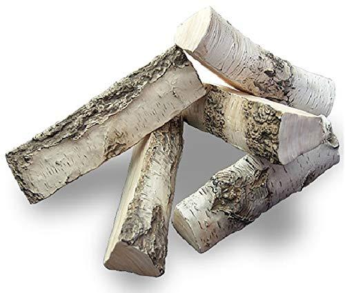 Dekoholz Keramikholz Birkenholz Weißbirke Keramik 5 Stück Biokamin aus Keramik Imitation Birken Satz