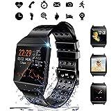 Beaulyn, smartwatch fitness tracker con schermo colorato con cardiofrequenzimetro, monitoraggio del...