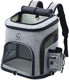 REAYOU Portador de Viaje Mochila Bolsa de Transporte para Mascotas Perros Gatos Transportín Jaula Capazos Transportadoras Mochila Plegable para Perros Gatos (Black-L)