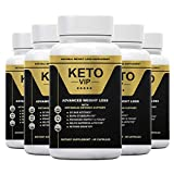 (5 Pack) Keto VIP-Keto Diet Pills That Works Fast - Advanced Weight Loss Formula -300 Capsules