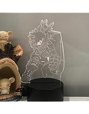 Anime 3D Night Light My Hero Academia Katsuki Bakugo Anime Led Night Light Home Decoratie Gift Bakugou Katsuki 3D Lamp Nieuwigheid Tafellamp Verjaardagscadeaus voor kinderen