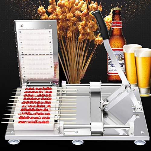 HIUHIU Hochwertige manuelle Satay Spieße Grill Edelstahl Lammspieße Lammspieße Werkzeuge Kebab Fleischspieße