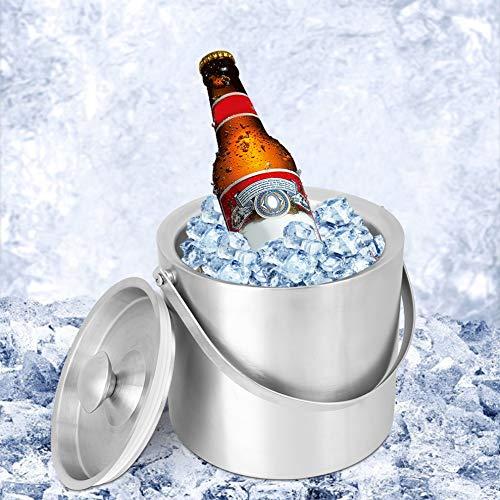Rehomy 3L grueso acero inoxidable aislamiento cubo de hielo cerveza barril botella de vino enfriador utensilios de vino