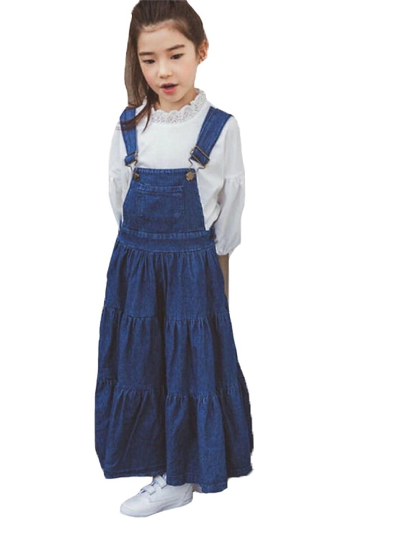 (イチイチ) itiiti サロペット デニム スカート キッズ 子供 女の子 デニム ワンピース オーバーオール キッズ オールインワン ダメージ 子供服 YY265