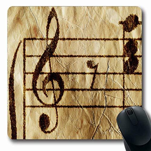 Mousepads Künstlerisches Klavier Antikes Musikblatt Abstrakter Komponist Gitarrenpartitur Alte Studie Vintage Design Bass Rutschfeste Gaming Mauspad Gummi Längliche Matte