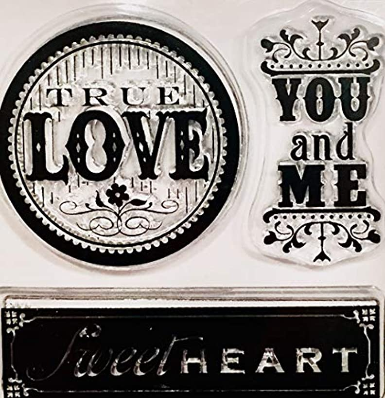 Studio 112 3 Piece True Love, Sweetheart, You & Me Clear Stamp Set