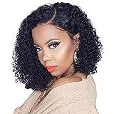 Short Bob Wigs Human Hair Lace Front Wigs For Black Women Brazilian Virgin Hair Curly Bob Wigs Remy Hair Wigs 8 Inch