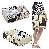 HOS 2-in-1 Universal Infant Travel Bag, Portable Bassinet Crib, Changing Station, and Diaper Bag for...