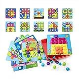 Geekper- Juego de Puzzle de Botones Tablero de Colores para Crear Dibujos. Ideal para la educación temprana de niños. Perfecto Regalo de cumpleaños, Multiple, 46 PCS (.)