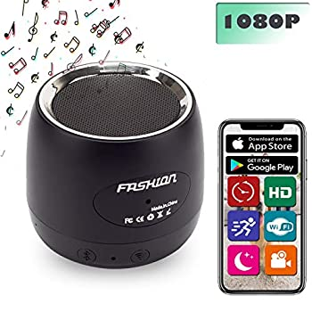Spy Camera Bluetooth Speaker Wireless Hidden Camera ZXWDDP WiFi HD 1080P Home Nanny CAM with Motion Detection Suitable for Home/Office