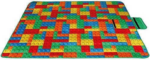 Picknickdecke wasserabw. mit Fotodruck, Auswahl: Größe - 170x130 cm Design - Brick, Stranddecke Kofferraumunterlage Campingdecke