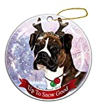 Holiday Pet Gifts Brindle Boxer with...