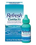 Refresh Contacts, Eye Drops, Contact Lens Comfort, 0.4 Fl Oz Sterile