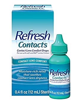 Refresh Contacts Eye Drops Contact Lens Comfort 0.4 Fl Oz Sterile
