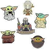 Baby Yoda Pin,The Child Mandalorian Pin Set,Star Wars Mandalorian Pins, Cute Baby Yoda Pin Set,Enamel Star Wars Pins for Backpacks&Jackets(Set 6)