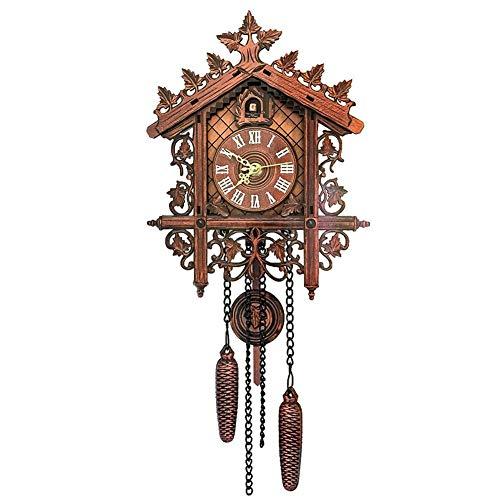 Seasons Shop Reloj de Cuco de la Selva Negra Reloj de Cuco Vintage Reloj de Pared Cuckoo Clock Decoración Interior Reloj de Cuco (sin batería) charmingly