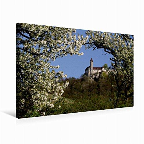 Premium Textil-Leinwand 75 x 50 cm Quer-Format Burg Teck von der Owener Steige, Leinwanddruck von namibelephant