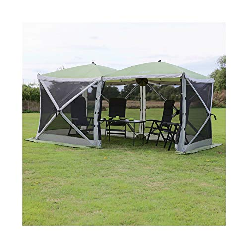 Quest The Screen House Top UV Rated 4-Sided Instant Gazebo with Fully Screened Double Door