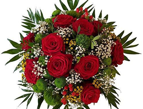 Flora Trans Blumenstrauß Versand mit Roten Rosen -Du an meiner Seite-
