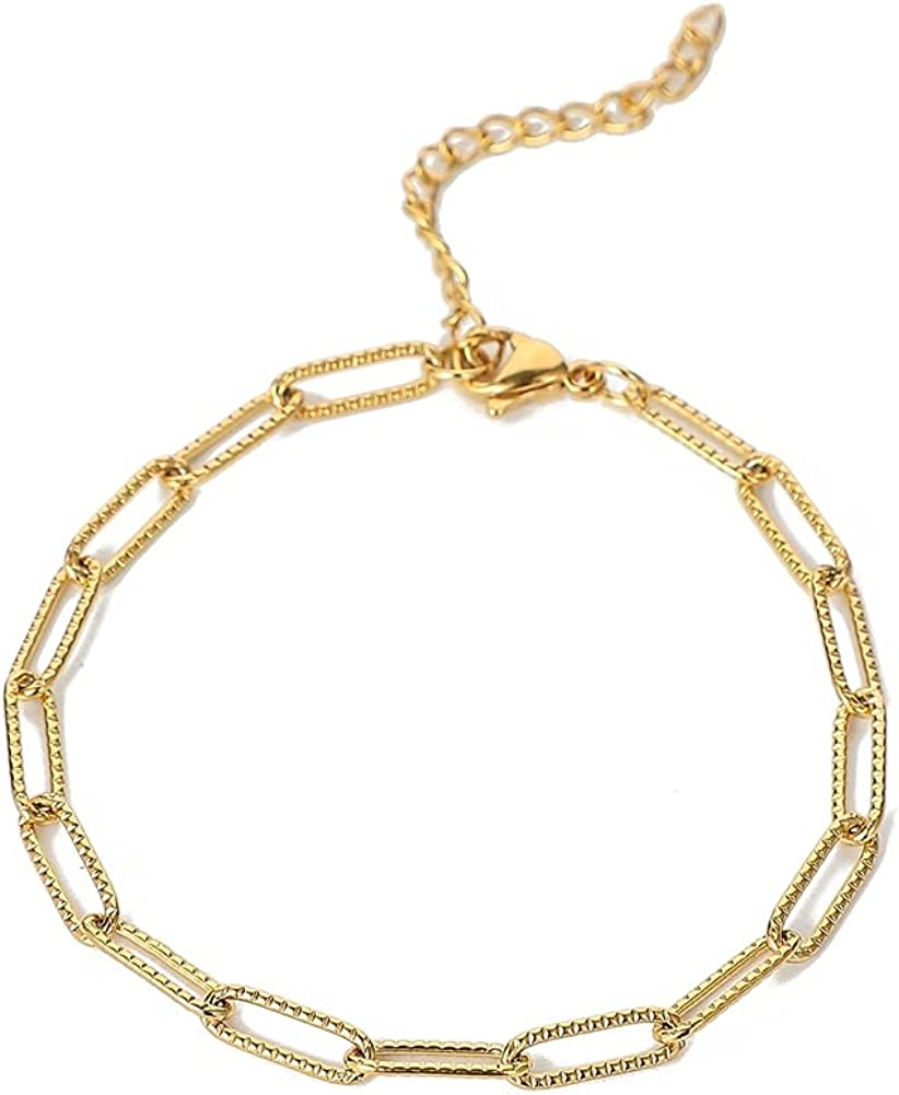 National products Stainless sold out Steel Gold Plated Single Bracelet Metal Chain
