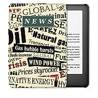 電子書籍の保護カバー 場合のKindleの第10世代2019 eリーダー(モデルJ9G29R) - 軽量磁気スマートカバー付きオートスリープ/スリープ解除 睡眠/覚醒機能 (Color : News)