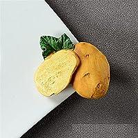 装飾用冷蔵庫用マグネット 3Dシミュレーション野菜フルーツ冷蔵庫マグネットメッセージポストピーマンマッシュルームマグネットデコレーショントマトオニオン冷蔵庫ステッカー 家のための完全な冷蔵庫の磁石 (Color : K)