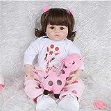 Reborn Baby Dolls, Simulación Baby Doll Rebirth Doll 48 / 60Cm Material de Seguridad Compañero de Juegos para niños Colección Preciosa Altamente simulada Puede Sentarse y acostarse, 60cm