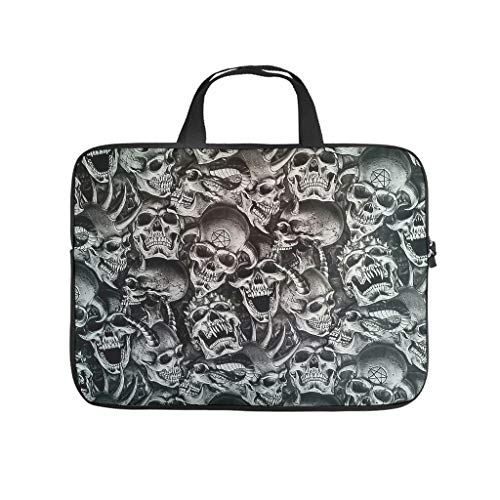 Water-Resistant Devil Skull Briefcases Laptop Sleeve Case Protective Bag - for Notebook White 10 Zoll