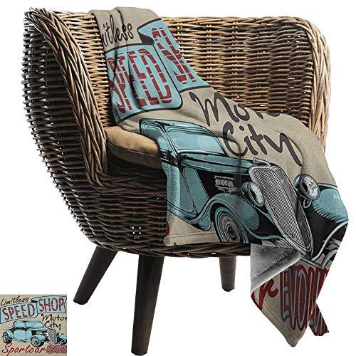 ZSUO Bed deken Retro, Breien Ballen Haak Hand Gemaakt Thema Huishoudelijke Hobby Vintage Thema Koraal Grijs Reseda Groen Gezellige en Duurzame Fabric-Machine Wasbaar