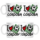 Diver Tazas Taza I Love Córdoba fútbol - Cerámica