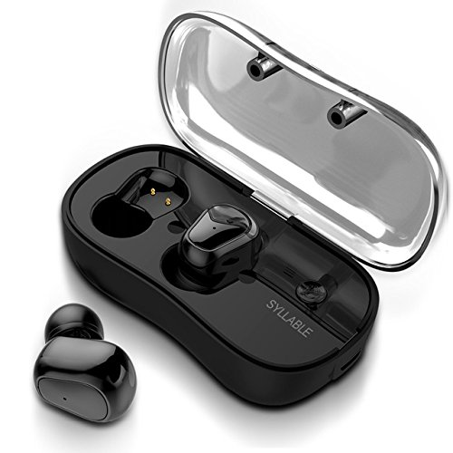 Syllable D900P Wireless Bluetooth 5.0 Headsets with Microphone and Charging Box