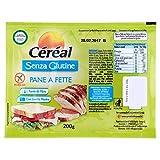 Céréal Pane a Fette Senza Glutine - Pan bauletto glutenfree - Confezione 200 g...