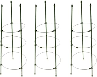 Yarnow 3pcs Garden Trellis Metal Potted Plant Support Vines Patio Climbing Trellises for Pepper Eggplant Tomato Flowers 45cm