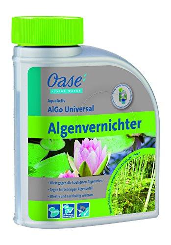 OASE 43137 AquaActiv AlGo Universal Algenvernichter 500 ml - effektiver Algenentferner für Gartenteich ideal gegen Algen Fadenalgen Schwebealgen Schmieralgen