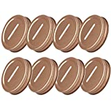 TAIKMD 70MM Stainless Steel Coin Slot Bank Lid Inserts Recyclable Storage Caps Mason Jar Canning Jars Lid Change Bill Storage Jars Lid 8PCS (Rose Gold, 70mm)
