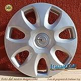 Generico Opel Corsa COPRICERCHIO BORCHIA Quattro (4) cod. 5916/5 Diametro 15' Logo Cromato