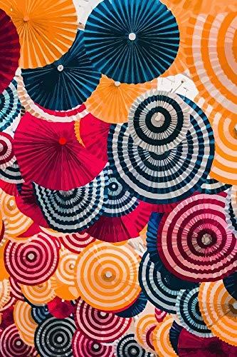Brandless schilderen op nummer-set met paraplu's van gekleurd papier, olieverfschilderij om zelf te maken, geschikt voor kinderen, beginners voor volwassenen, met penseel en acrylverf (16 × 20 inch zonder lijst)