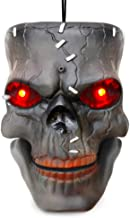 VATOS Halloween Decoration Hanging Skull Head with LED Flashing Eyes & Scary Laughter & Biting Mouth Acoustic Sensor Voice...