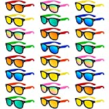 Kids Sunglasses Party Favors in Bulk, 24 Pack Neon Sunglasses for Kids, Boys and Girls, Summer Beach, Pool Party Favors, Fun Gifts, Party Toys, Goody Bag Stuffers, Gift for Birthday Party Supplies