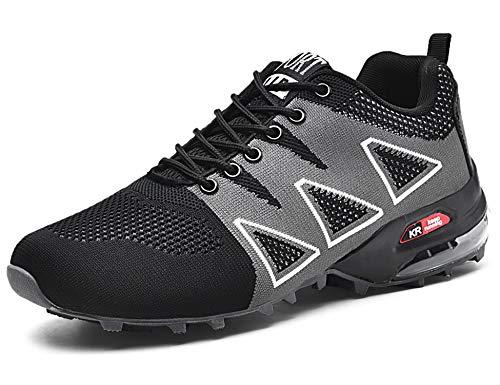 GNEDIAE Herren KR-5 Low-top Trailrunning-Schuhe,Outdoor Fitnessschuhe Schwarz 45 EU