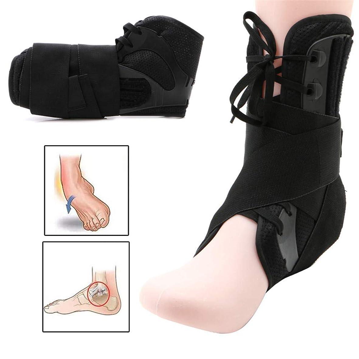 登山家オーバーラン鉱夫足首装具サポート、スポーツ調整可能な足首ストラップ、スポーツサポート調整可能な足装具安定装置足首プロテクター