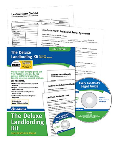 Adams Landlording Kit, Forms and Instructions, Includes CD (PK213) - White