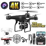Drone avec caméra HD 1080p, 25 minutes de vol, avec batterie rechargeable 3.7v 2000mAh, mode de maintien de l'altitude, suivi en vol, mode sans tête, gyroscope à 6 canaux , Retour en un clic,repliable