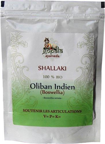 SHALLAKI (Boswellia serrata) BIO en poudre (250 g) - Plante Ayurvédique Traditionnelle soutenir les articulation