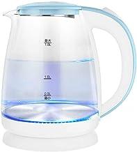 Eco Glass Elektrische Waterkoker, 1. 8L Draadloze Waterkoker met Blauwe LED Verlichte, Snelle Kook Thee Waterketel, Auto S...