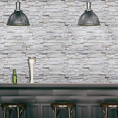 Papel pintado autoadhesivo decoración del hogar vinilo adhesivo de pared de grano de madera