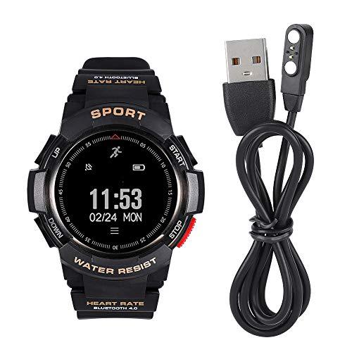 Ufolet Reloj del perseguidor de la Aptitud, Reloj de la Aptitud, Reloj Elegante del Deporte de la Pulsera de la Aptitud de los Deportes para el Sistema Android del Sistema iOS(Black)