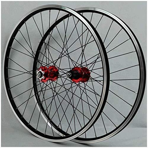 TYXTYX MTB Wheelset 26 pulgadas Bicicletas Ciclismo llanta bicicleta montaña rueda 32H disco/llanta freno 7-12speed QR Cassette Hubs cojinete sellado 6 peones