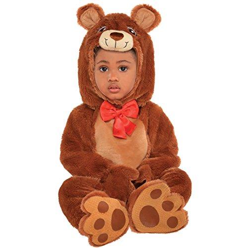 Disfraz de Animal bebé Unisex Oso Teddy Teddy Brown Carnaval tierno (6-12 Meses)